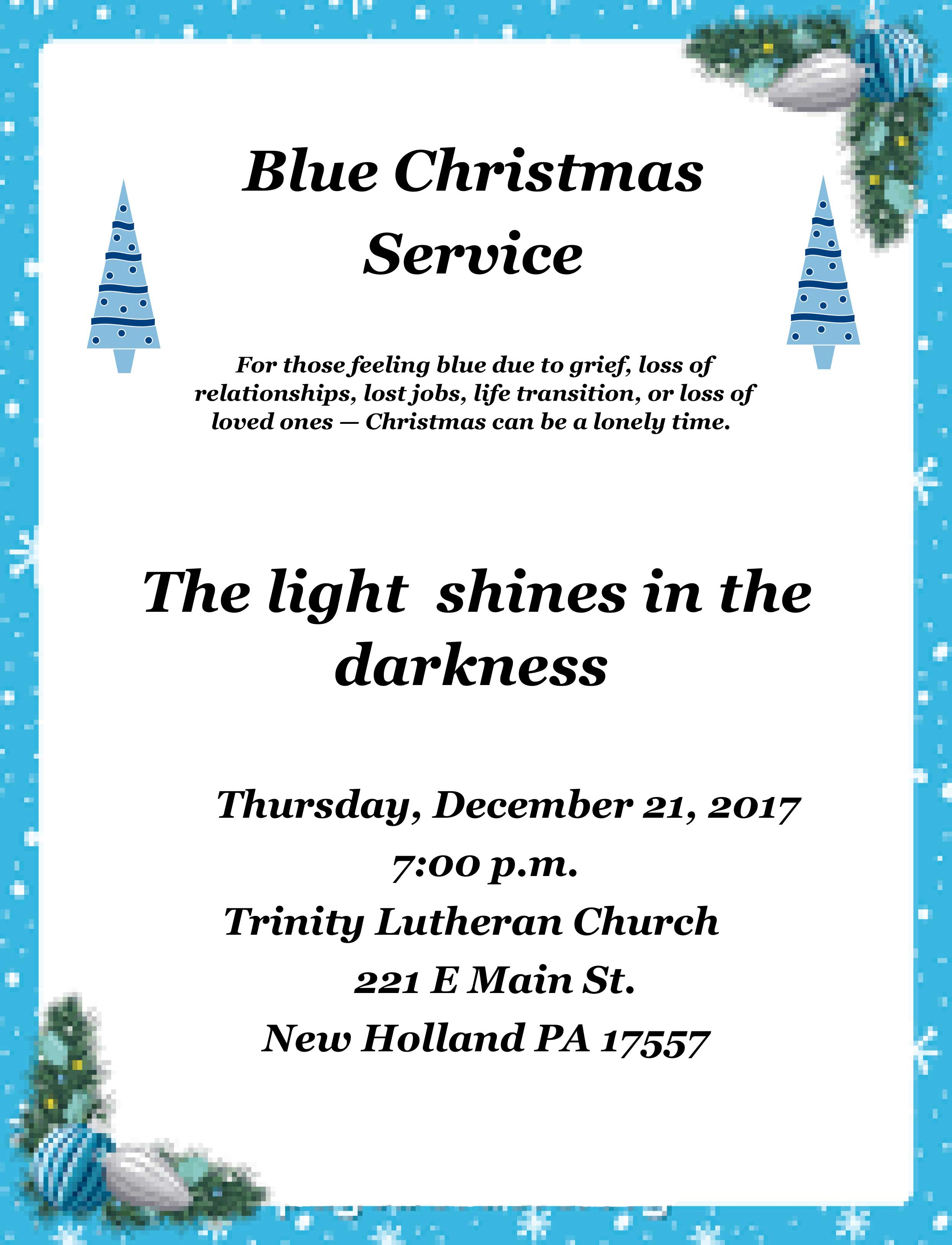 Blue-Christmas-Service - Trinity Lutheran Church | New ...